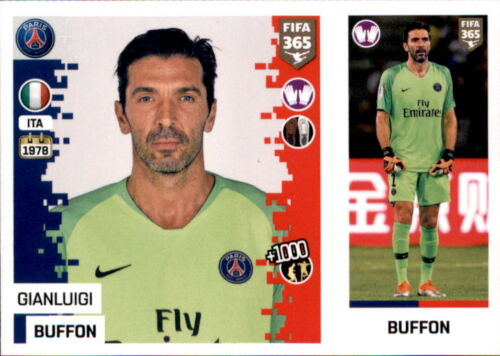 Paris Saint-Germain Sticker 144 a//b Gianluigi Buffon Panini FIFA365 2019