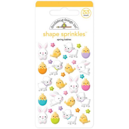Doodlebug Design Hoppy Easter Sprinkle Enamel Shapes Spring Babies 6229