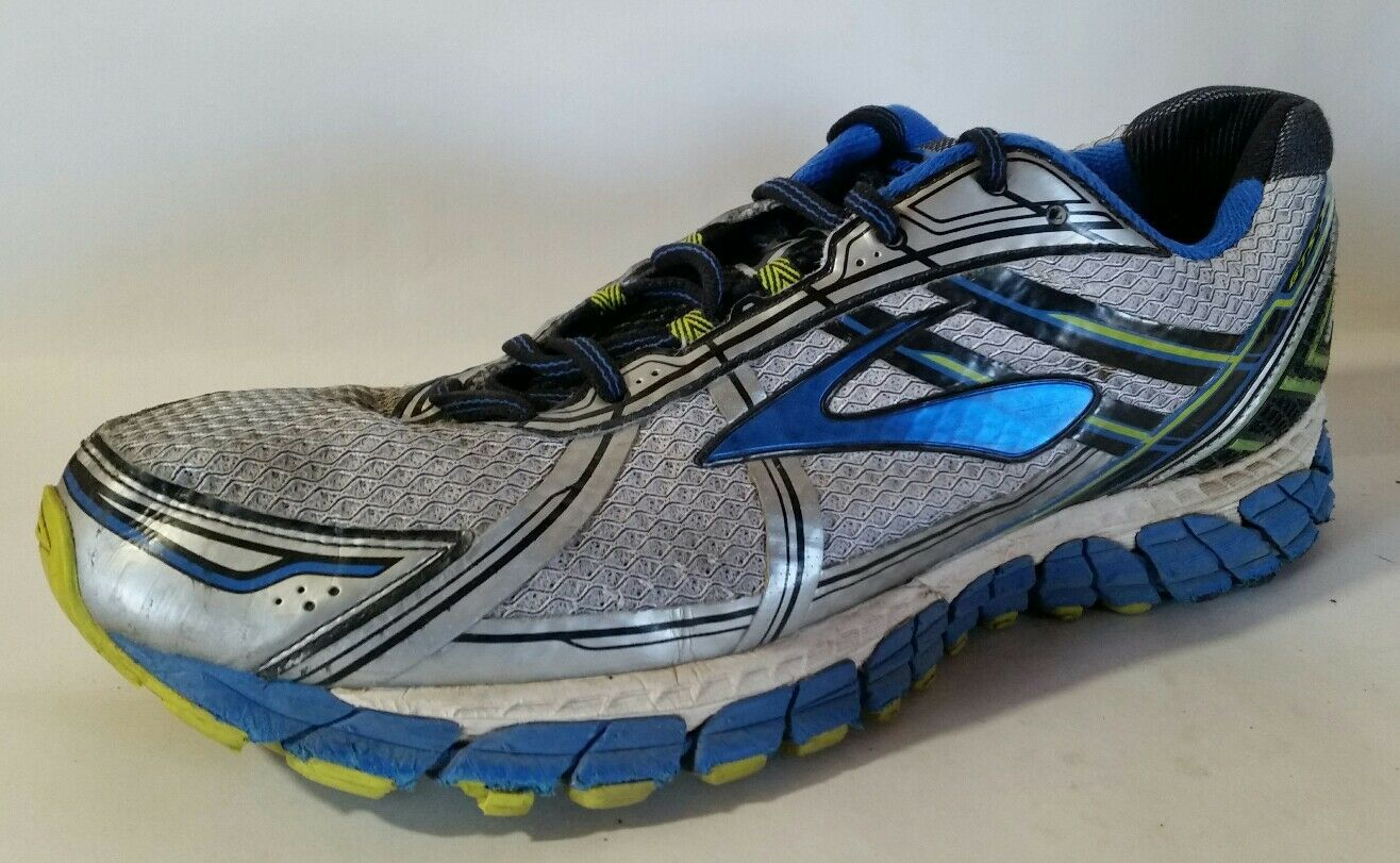 Brooks Adrenaline GTS 15 Mens Size 12.5 M Running Green Shoes White Silver Blue Green Running 6e1860