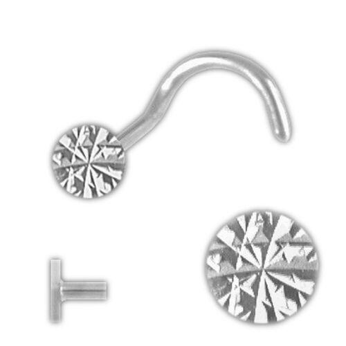 Silber Nasenstecker Nasenpiercing Kelch   diamantiert und Spirale