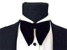 USA Men Black Velvet Oversized Bow Tie Pocket Square Cufflinks Wedding Tie Set