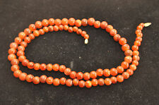 ANTIQU/VINTAGE CHINESE GRADUATED CARNELIAN BEADED NECKLACE, 80 GRAMS