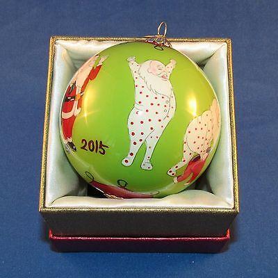 Pier 1 Imports - 2015 - Li Bien Christmas Ornament - Santa's Morning - NEW