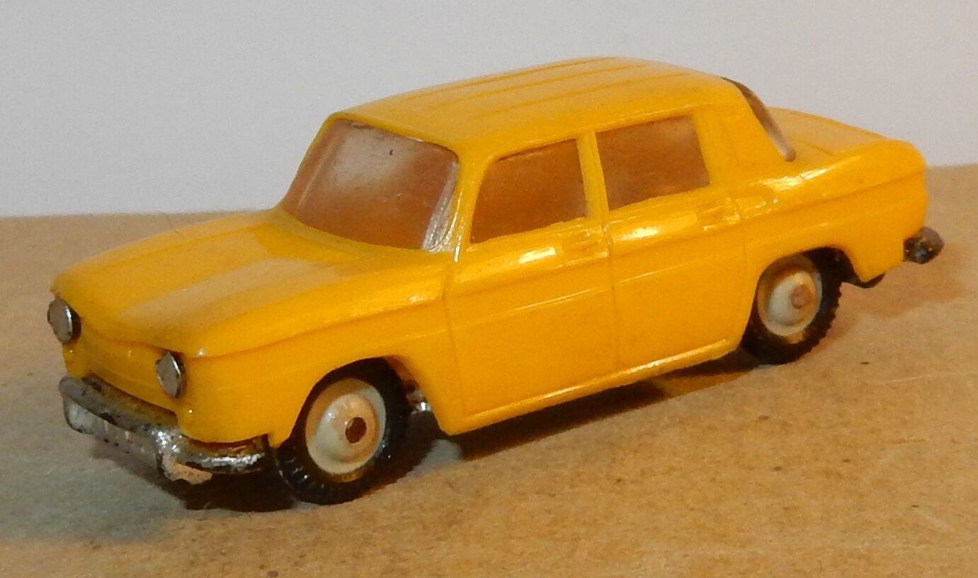 OLD MICRO NOREV HO 1 86 1 1 1 87 RENAULT 8 R8 YELLOW dark and YEARS 1960 bd57d9