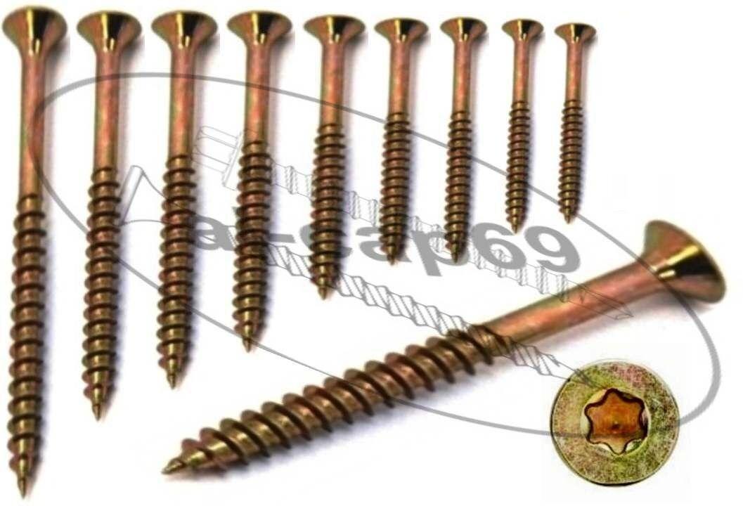 Schrauben Sortiment 5,0x50 bis 6x140 6x140 6x140 mm,  Torx Antrieb, Spanplattenschrauben b69950