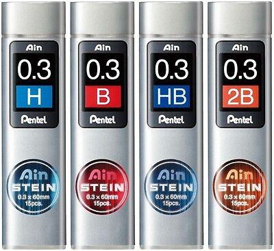 5 tubes Pentel Ain Stein C273-H 0.3mm Refill Leads
