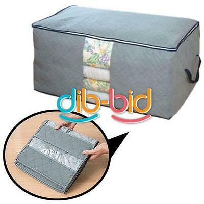 65L folding bamboo thermal blanket storage bags wardrobe boxes cosmetic 01