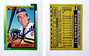 Dann-Bilardello-Signed-1990-Topps-682-Card-Pittsburgh-Pirates-Auto-Autograph