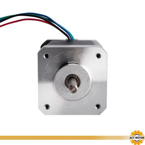 DE Free 1PC Nema17 Schrittmotor 17HM5417 1.7A 48mm 0.9°  60oz-in Φ5mm Bipolar