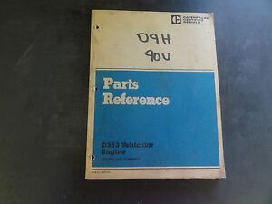 caterpillar cat d353 vehicular engine parts reference manual ebay rh ebay com Cat D343 Cat D343 Specs
