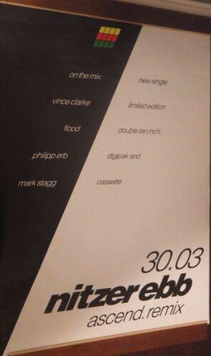 "40x60"" HUGE SUBWAY POSTER~Nitzer Ebb 1991 Ascend Remix Bon Harris Ebbhead NOS~"