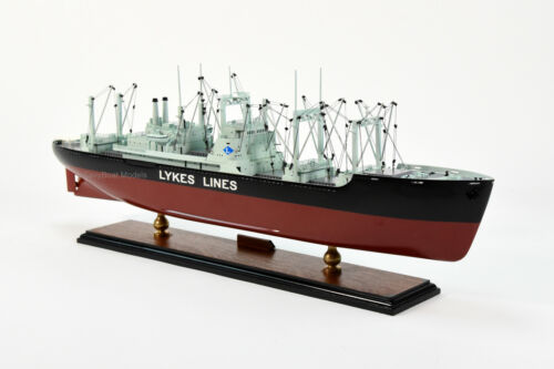 """General Cargo Ship James Lykes Handcrafted Wooden Model 30/"""""""
