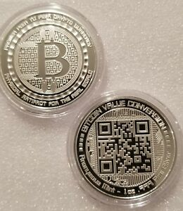 Details about Bitcoin 1 oz  999 fine Solid silver commemorative NEW! Value  conversion QR code