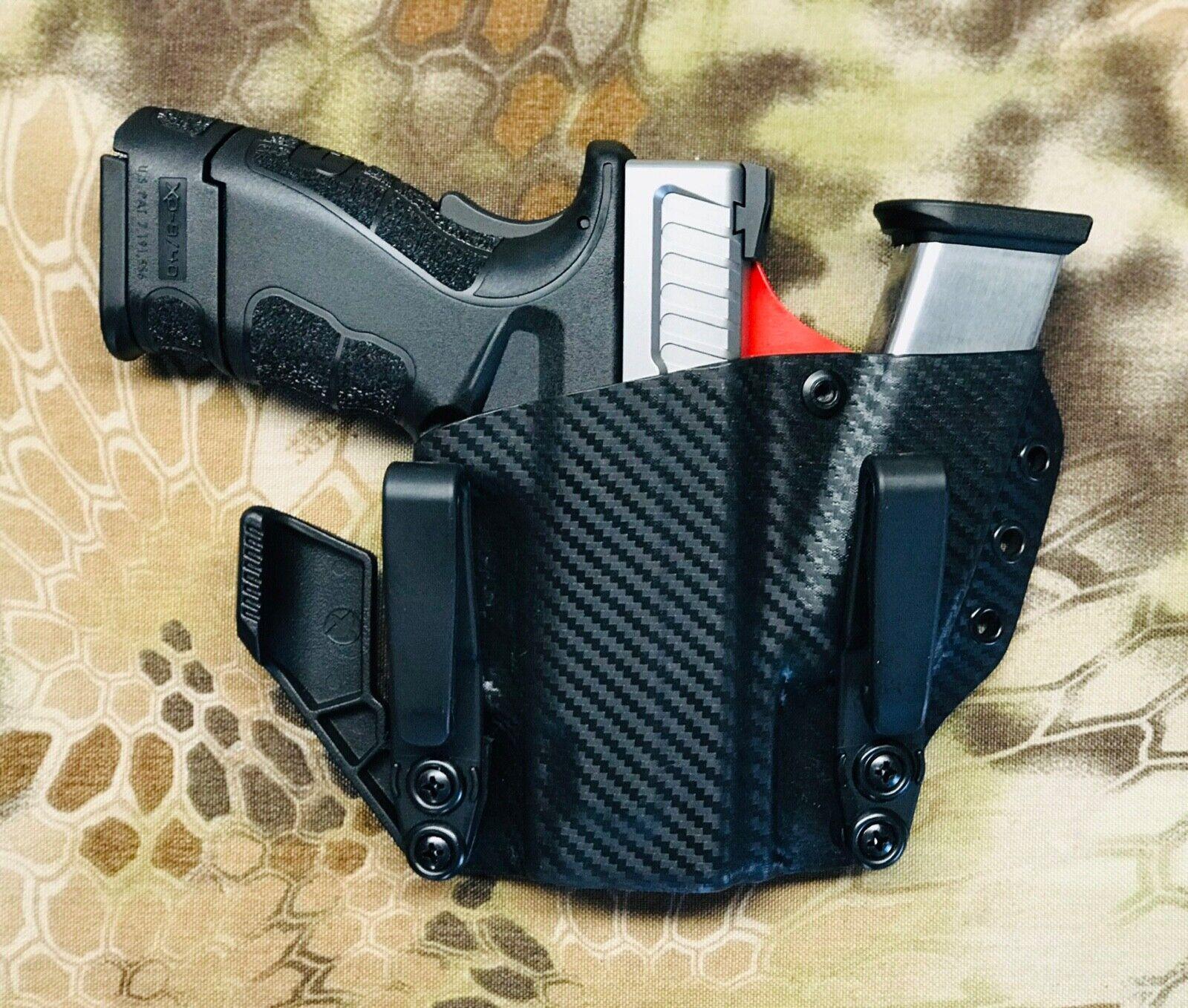 Springfield XD sub compct 9mm   40 mod2  Kydex Sidecar Holster