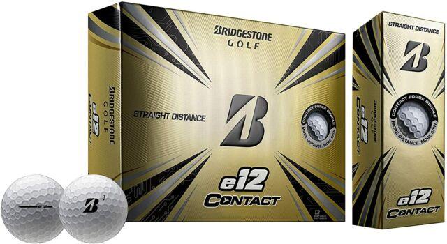 Bridgestone e12 Contact Golf Balls 1 Dozen - White