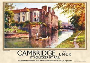 railway poster vintage Cambridge