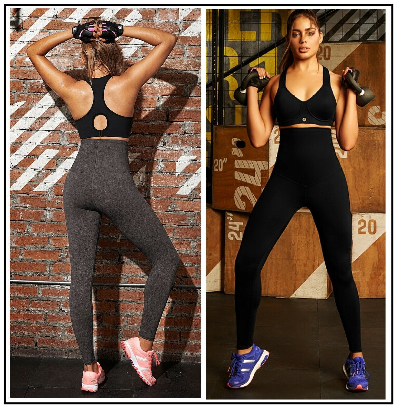 HIGH WAISTED TUMMY CONTROL WORKOUT BUTT LIFT PANTS FITNESS SLIMMING LEGGINGS