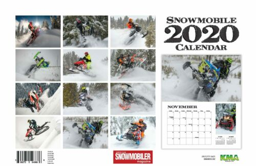 2020 SNOWMOBILE DELUXE WALL CALENDAR helmet trailer gloves jacket boots bibs
