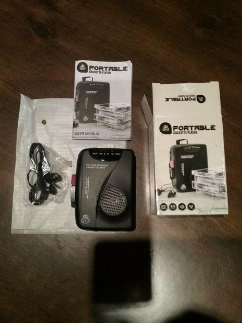 GPO portable FM radio/cassette lecteur/enregistreur écouteurs