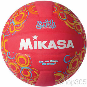 MIKASA-VSV104-Squish-Pillow-Soft-Indoor-Outdoor-Volleyball-Red-Official-Size