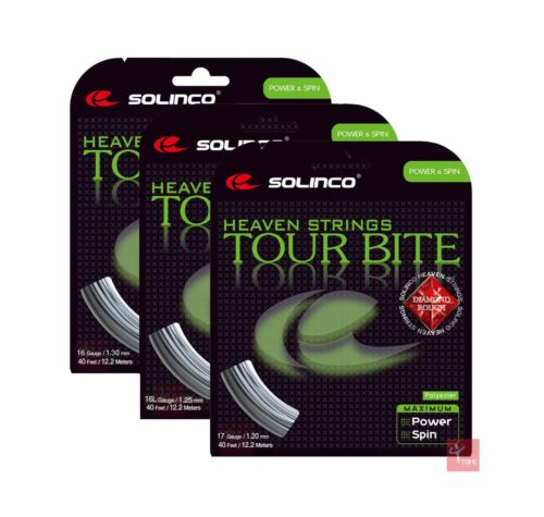Solinco Tour Bite Diamond Rough Tennis String Set Available in All Gauges