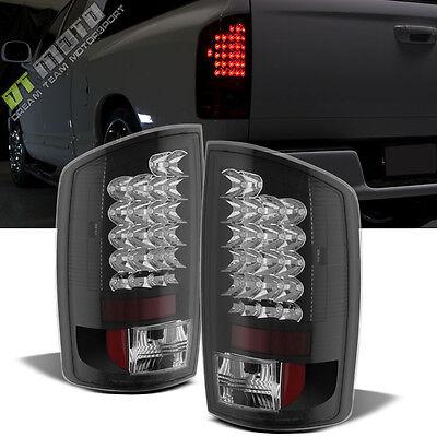Black 2002-2006 Dodge Ram 1500 03-06 Ram 2500 3500 Lumileds LED Tail Lights Pair