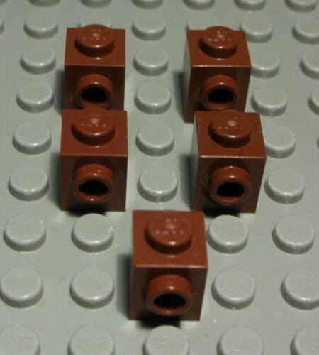 370 # Lego Pierre avec 1x querknopf 1x1 New Marron 5 pièce