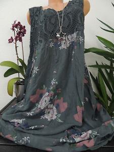 Damen Kleid Größe 46 48 50 52 54 Übergröße Kleider Maxikleid Blumen Spitze 129E  eBay