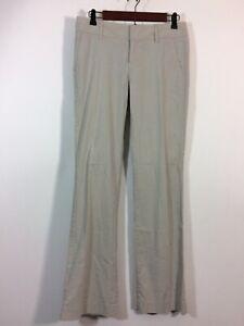 Banana Republic Pants Size 4 Gray Striped RYAN Fit Linen Blend Trouser Slacks