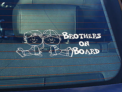 Static Cling Window Car Sign//Decal Twinny/'s on Board 100 x 250mm Teddys