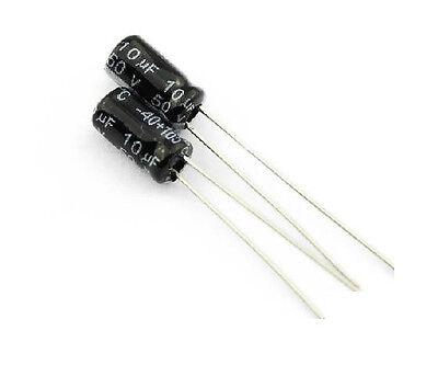 100 pcs 10uF 50V 105°C Radial Electrolytic Capacitor 4*7mm
