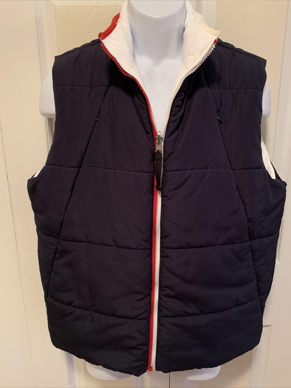 Tommy Hilfiger Mens Reversible Puffy Vest Blue/Wh… - image 1