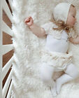 Newborn Baby Girls Lace Shorts Ruffle Pants Bloomers Diaper Nappy Cover 1-2Y AU