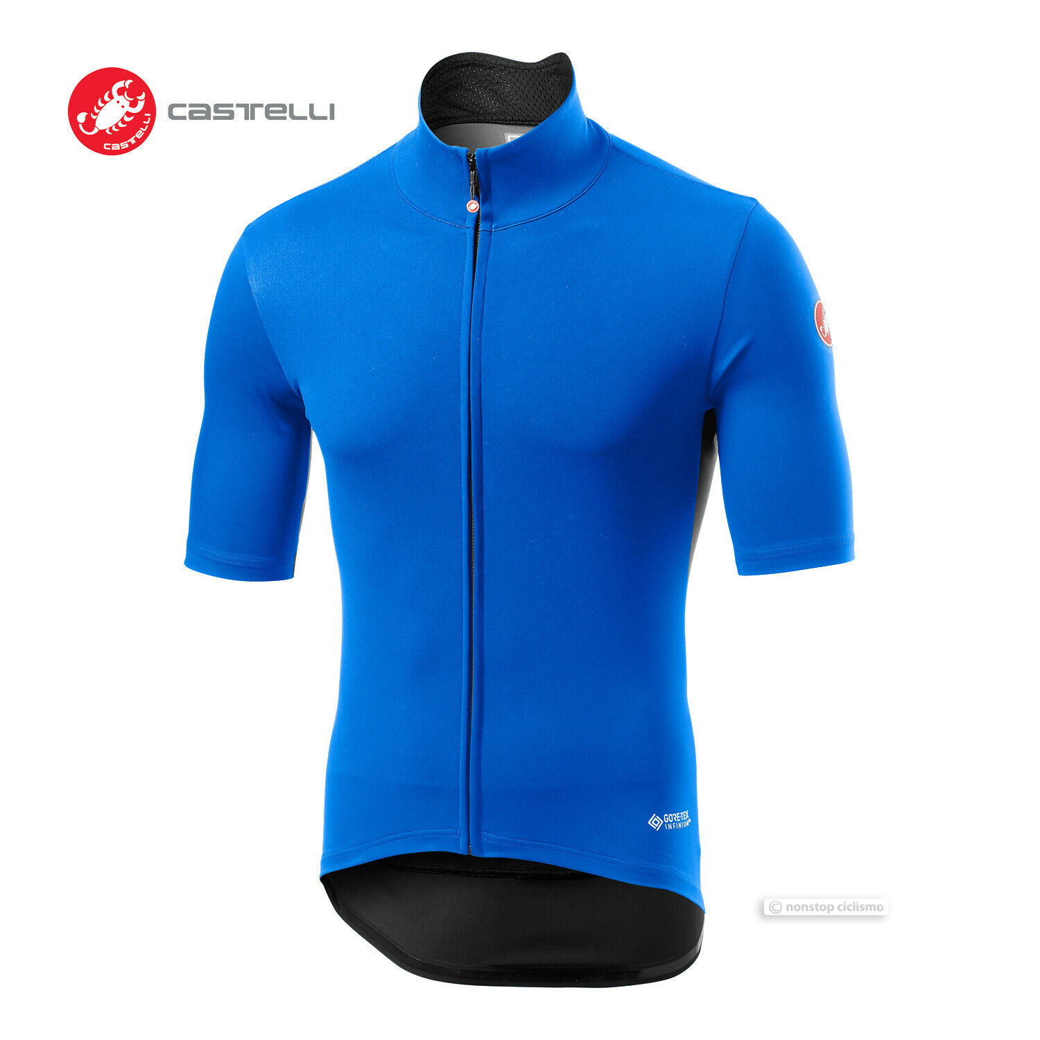 Castelli PERFETTO ROS LIGHT Short Sleeve Wind Rain Cycling Jersey   DRIVE Blau