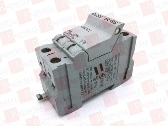 new cooper bussmann chcc2 fuse block 2 pole 30 amp