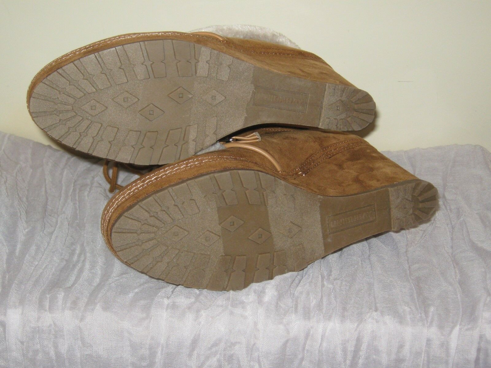 Unionbay Brown Boots Faux Fur Wedge #SH13 JR Size 8.5 NIB #SH13 Wedge f83e0f