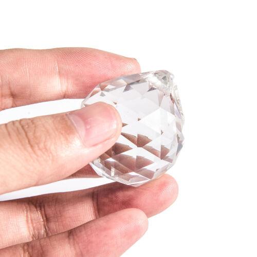 30mm Glas Kristallkugel Prisma KronleuchterAnhänger Beleuchtung Ball Wohnkulg Sa