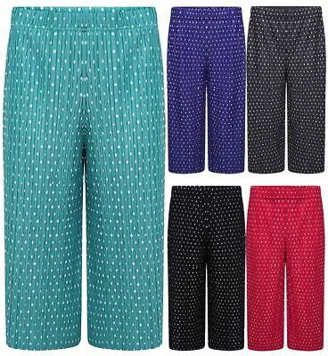 Ladies 3//4 Length Polka Dot Print Trouser Womens Fancy Novelty Party Wear Pants