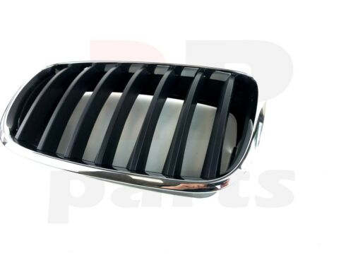 FOR BMW X6 08-13 NEW FRONT BUMPER CENTER KIDNEY GRILLE BLACK//CHROME PAIR SET