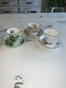 3-Vintage-Cup-And-Saucers