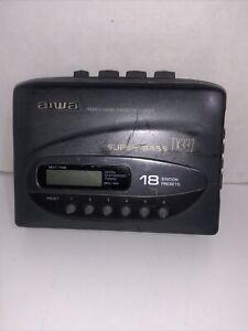 VTG Aiwa TX337 Super Bass AM FM Cassette Tape Walkman Radio Tested