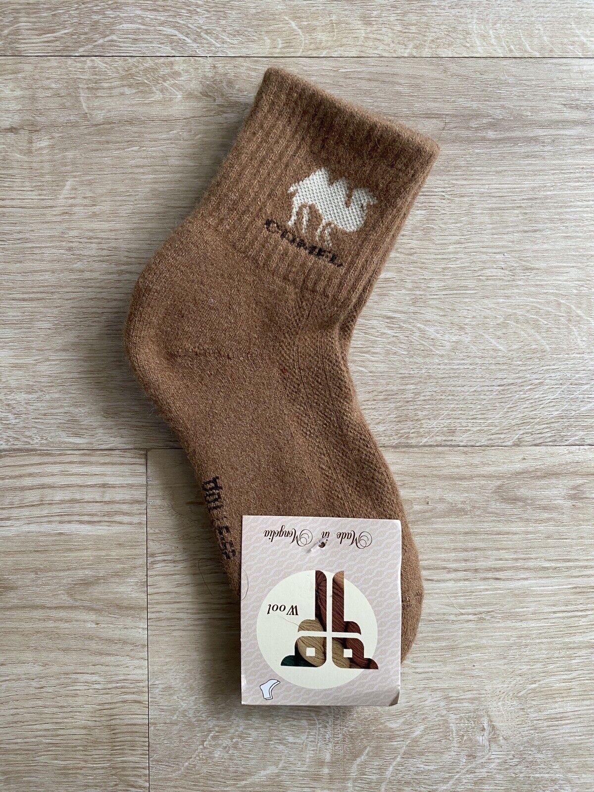 YAKWOLLE Socken 35-37 Groß, Yak und Camel Wolle aus der Mongolei (Camel Braun)