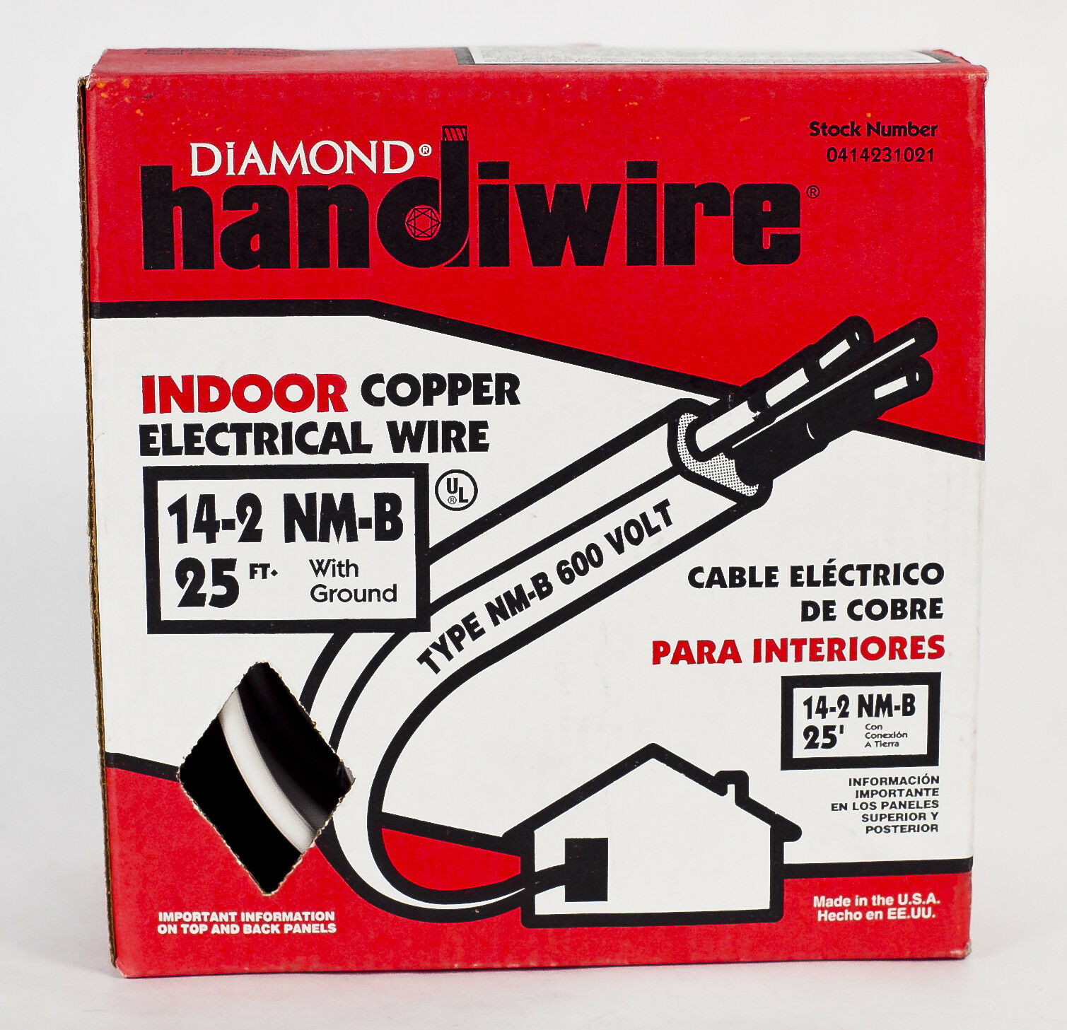Diamond Handiwire Indoor Copper Electrical Wire 14 2 Nm B W Ground Cable Gauge Romex Simpull Norton Secured Powered By Verisign