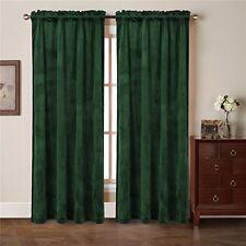 comforhome solid soft velvet window curtain rod pocket drapes dark