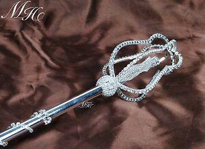 Beautiful Princess Sceptre Rhinestone Scepter Wand Wedding Party Costume Props