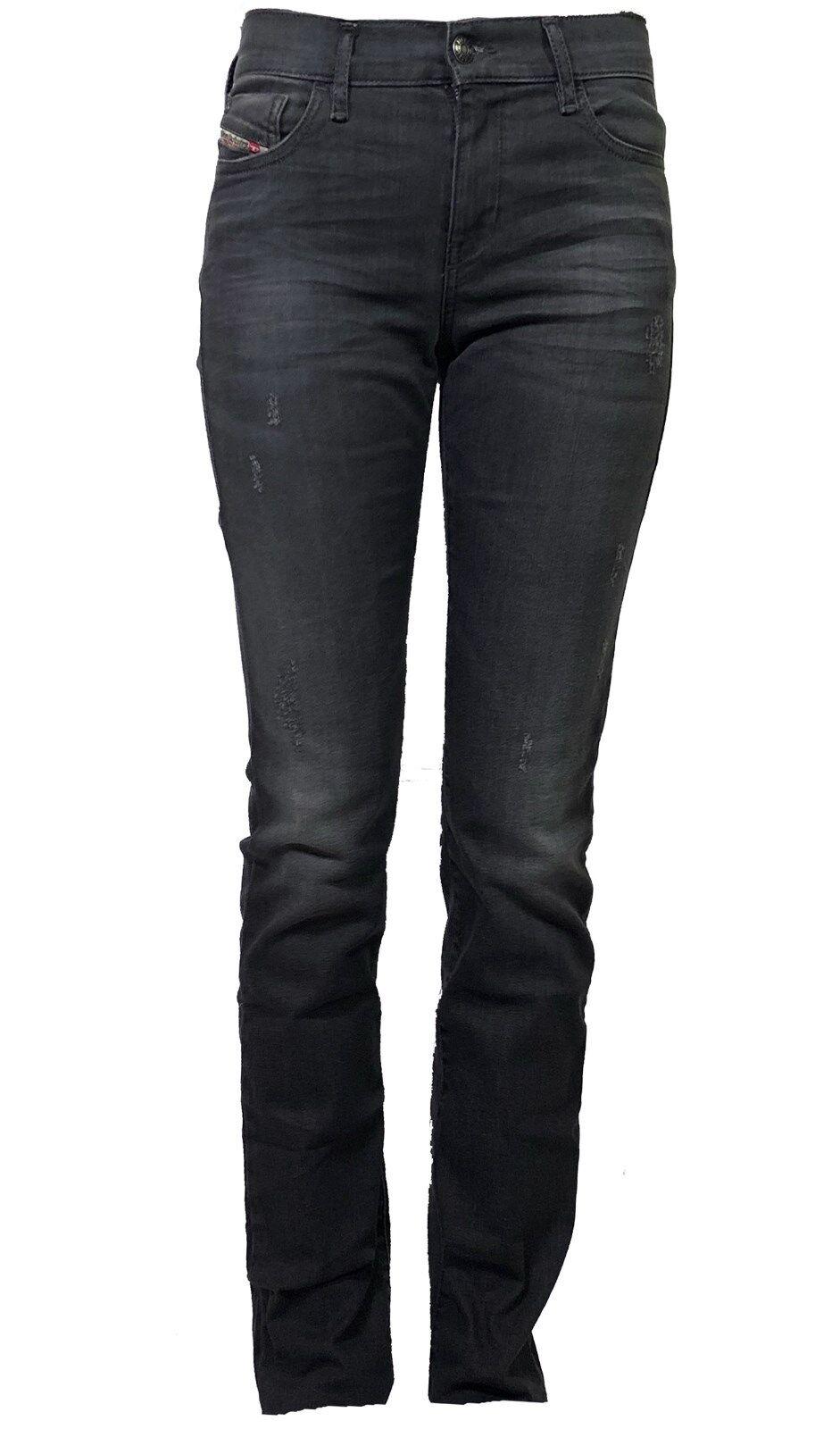 Diesel Damen Stretch Jeans STRAITZEE 0815B slim  grau  used look  dezent  NEU