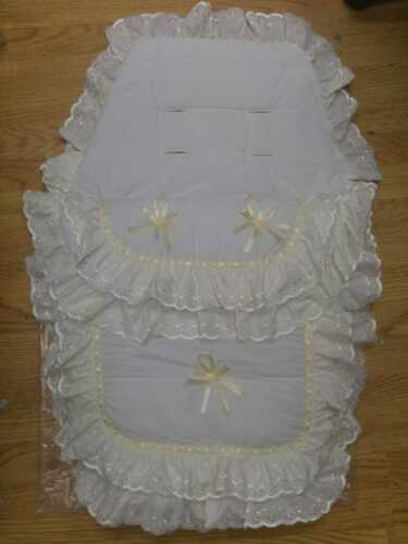 BEAUTIFUL PRAM  COSYTOES  // FOOTMUFF BLING BABY  CREAM STYLE ROMANY