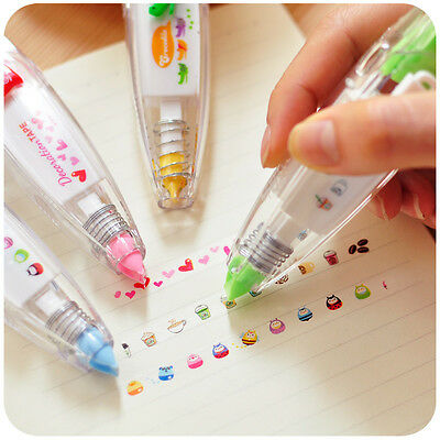 Decorative Stationery Push Correction Tape Lace for Key Tags School Supplies
