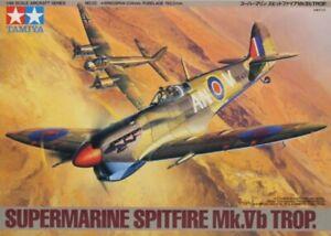 Tamiya-1-48-Supermarine-Spitfire-Mk-Vb-Trop-Plastic-Aircraft-Model-Kit-61035