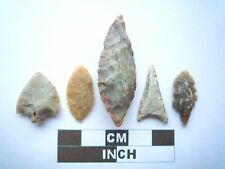 Neolithic Arrowheads x5, High Quality Selection of Styles - 4000BC - (W007)
